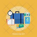 Traveling Set Holiday Icon