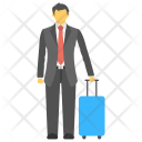 Traveling Passengers Vacation Icon