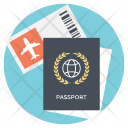 Traveling Documents Passport Icon
