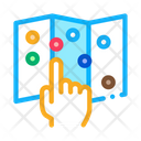 Map Attractions Guide Icon
