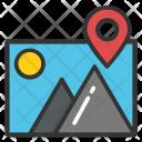 Location Pin Landscape Icon
