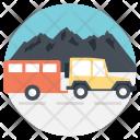 Journey Van Traveling Icon