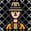 Traveller Fisherman Man Icon