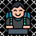 Traveler Tourist Wayfarer Icon