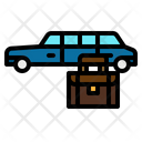 Travelling Car Suitcase Icon