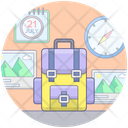 Travelling Gadgets Travelling Luggage Traveling Equipments Icon