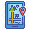 Travelling Location Mountain Location Phone Icon