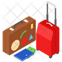 Travelling Suitcase Luggage Baggage Icon
