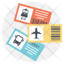 Travelling Tickets Icon