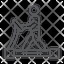 Treadmill Fitness Exercise Icon