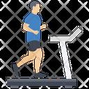 Treadmill Fitness Running Machine Icon