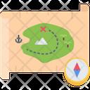 Treasure Map Compass Icon