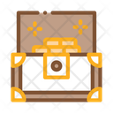 Cartoon Chest Drawing Icon