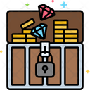 Treasure Treasure Box Gold Box Icon