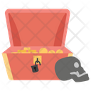 Jewelry Box Treasure Chest Depository Icon