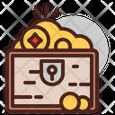 Treasure Deposit Gold Gold Box Icon