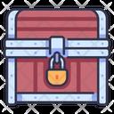Lock Treasure Gold Icon