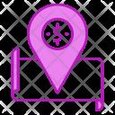 Treasure Map Location Icon