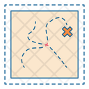 Treasure Map Gps Icon