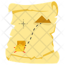 Treasure Map Buried Treasure Valuable Secret Icon