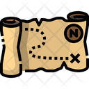 Treasure Map Paper Map Map Icon