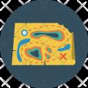 Treasure Map Find Icon