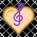 Treble Clef Heart Icon