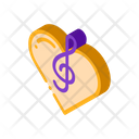 Music Heart Clef Icon