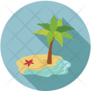 Tree Greenery Beach Icon