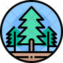 Tree Forest Green Icon