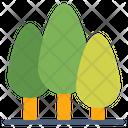 Forest Garden Trees Icon Icon