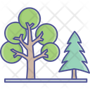Dotted Leaf Fir Tree Generic Plants Icon