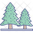 Evergreen Trees Fir Trees Jungle Icon