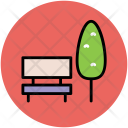 Tree Bench Garden Icon