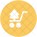 Tree Christmas Shopping Icon
