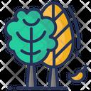 Fall Tree Leaves Icon
