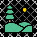 Green Tree Sun Icon