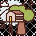 Tree House Tree Home Ecofriendly Home Icon