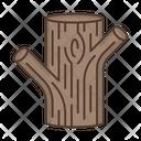 Tree Trunk Bark Icon