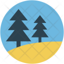 Trees Fir Two Icon