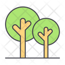 Trees Nature Greenery Icon
