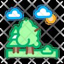 Diverse Forest Landscape Icon