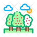 Trees Forest Landscape Icon