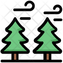Pine Trees Winter Icon