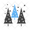 Snowing Trees Icon