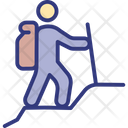 Athlete Backpack Human Icon