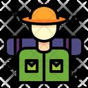 Trekker Trekking Mountain Icon