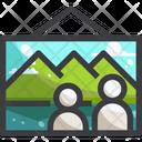 Trekking Photo Icon