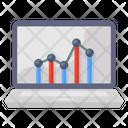 Trend Chart Online Analytics Online Graph Icon