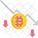 Trend Down Bitcoin Cryptocurrency Icon